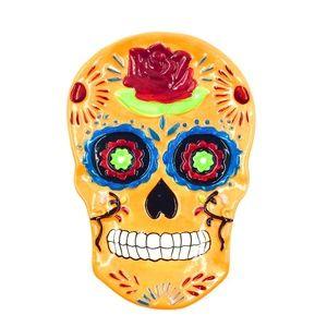Spoon Rest Sugar Skull Orange Day of the Dead